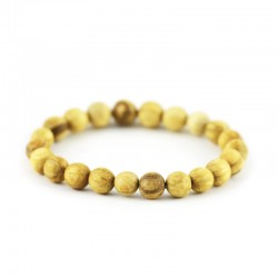 Zestaw Palo Santo korale, bransoletka i koczyki 100% naturalna biżuteria prosto z Peru. Pachnąca bransoletka.