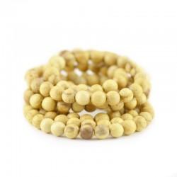 Zestaw Palo Santo korale, bransoletka i koczyki 100% naturalna pachnąca biżuteria prosto z Peru.
