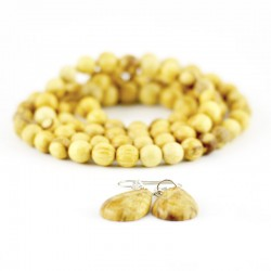 Zestaw biżuterii Palo Santo korali + kolczyki
